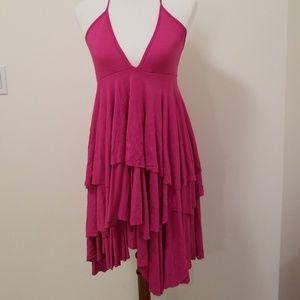 Soft swingy halter dress